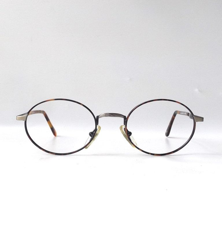 Eyeglass Frames Oval : vintage 1990s NOS oval metal wire eyeglasses frames