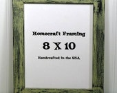 8X10 Picture Frame Distressed Sandstone Black Rustic Shabby Cottage Chic Wooden Photo Frame