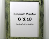 8X10 Picture Frame Distressed Wedding Frame Wood Frame Sandstone Black Shabby Chic Rustic