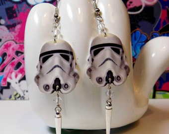 Star Wars Stormtrooper Dangle Earrings