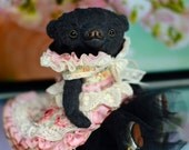 Artist teddy bear lady doll Charlize by Tatiana Skalozub