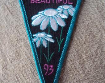 Vintage Keep PA Beautiful 1993 Triangular Shaped Sew On Patch