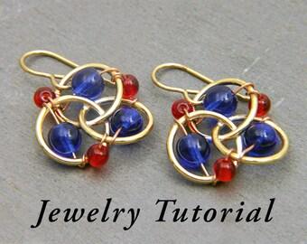 Three-ring Propeller Earrings Jewelry Tutorial