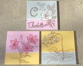 3-pc set floral art for girls room or nursery