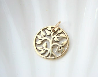 Gold Tree of Life Charm - Jewelers Bronze - Add On - Family Tree