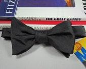 Custom Order for tfis1944: No. 11 Men's Classic Black Taffeta Bow Tie