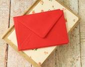 plain Scarlet Red C6 envelopes
