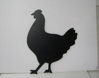 Chicken 007 Rustic Farm Metal Yard Art Silhouette