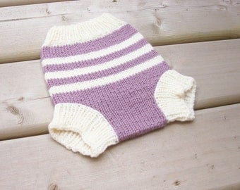 Hand Knitted Wool Cloth Diaper Cover Knit Cloth Diaper Wool Diaper Soaker Baby Wool Nappy Cover MADE TO ORDER