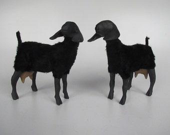 Black Porcelain Nubian Goat Figure With Udders
