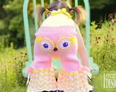 CROCHET PATTERN Fiesta Owl Pants and  Ruffled Bloomers Crochet Pattern in PDF
