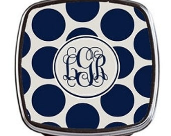 Monogrammed Compact Mirror
