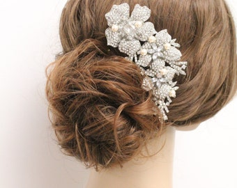 Wedding hair accessories,Wedding hair jewelry,Bridal hair comb pearl hair piece,Wedding hair comb,Bridal hair clip,Wedding hair piece,pearl