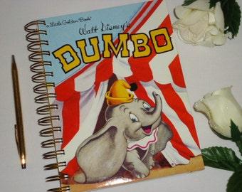 2017 12 Month Calendar A Little Golden Book Walt Disney Dumbo Planner /Agenda /Journal Recycled Upcycled