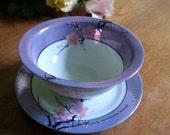 Sakura blossom plate and bowl