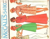 McCall's 5490 Misses' Maxi, Dress, Tunic