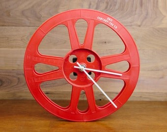 16mm Film Reel Wall Clock