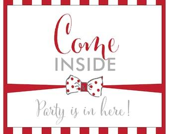 Come Inside - 8x10 Door Sign