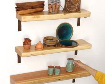 Open Shelf Live edge Wood Slab