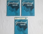 3 NIB Vintage 1960's Gainsborough French Style Black Nylon Hair Net Never Worn by Weco
