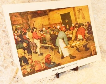 The Peasant Wedding by Pieter Bruegel Vintage print from ''My Weekly Reader Art Gallery 2''