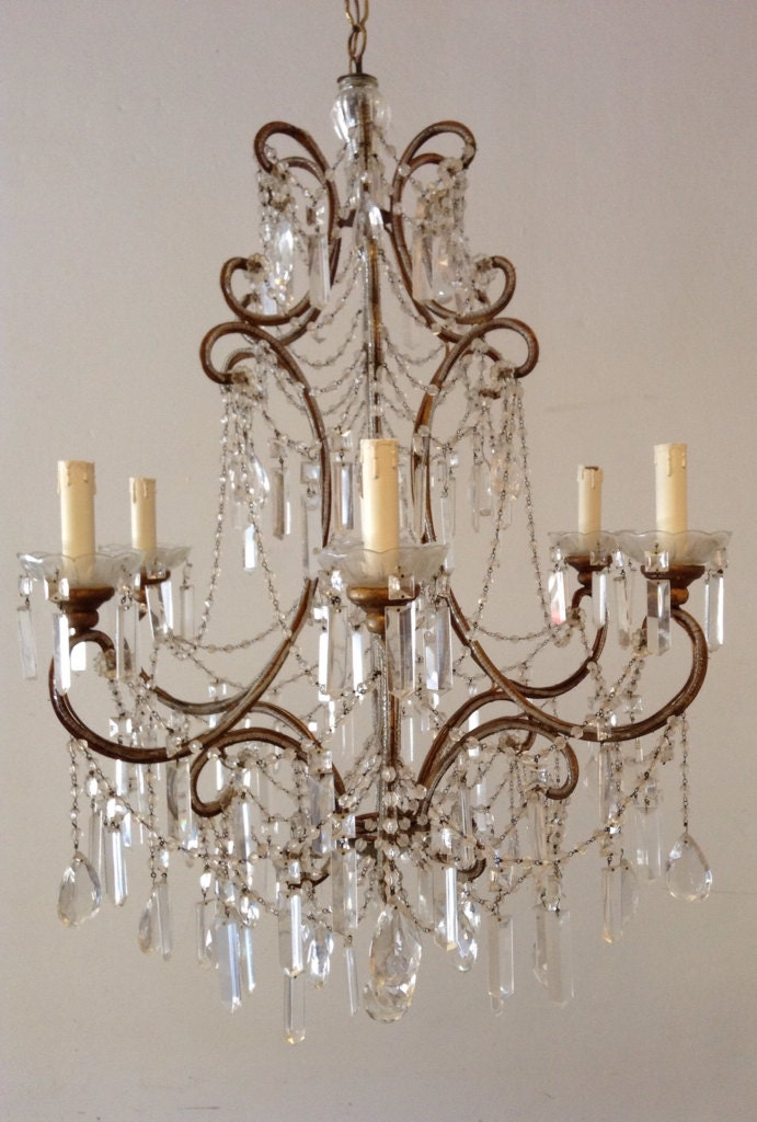 vintage macaroni beaded chandelier haute juice. Black Bedroom Furniture Sets. Home Design Ideas