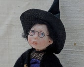 Hebie, 12th Scale Miniature Handsculpted Witch Girl ***Reserved ***