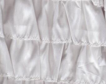 EL2860 Taffeta Ruffles - White by E-Tex-La/Elyan Enterprises Fabric by the Yard