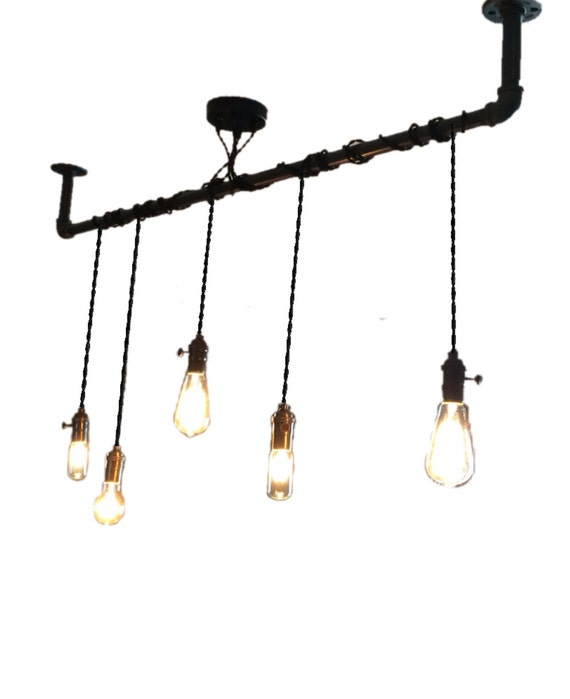 5 Pendant Light Wrap A Pipe Or Bar Modern By HangoutLighting