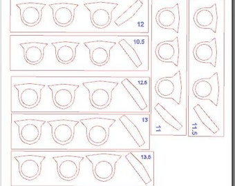 Craftcast Steel Class 3 Additional Ring Sizes (with supply kit only)