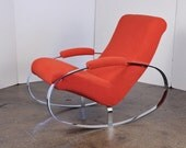 Mid-Century Chrome Rocking Chair