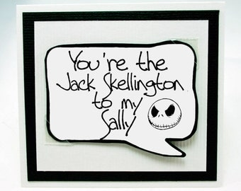Jack Skellington Love You Card. Nightmare Before Christmas . FunLove You Card. MN223