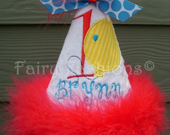 Custom Party Hats..CARNIVAL CIRCUS party hat... any color...any theme...Birthday hat...dress up... Princess hat, first birthday, balloons