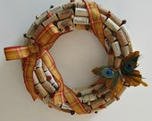 Fall Wine Cork Wreath - Autumn Decor, Wall Accent, Home Decor