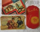 Lot of Three Vintage Needlebooks Reliance, Century of Progress Worlds Fai