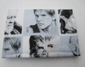 SALE - Star Wars Wallet, Credit Card Wallet, Hans Solo, Princess Leia, Obi-Wan Kenobi, Chewbacca, RD2D2, C3PO, Small Wallet, Jedi, Comic Con