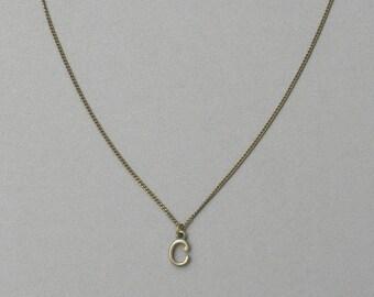 Antique Bronze c Necklace