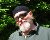 Ships Immediately! Mens Cotton Cooling Cap Crocheted in Black