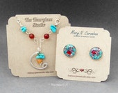 Earring Card Display-Necklace Cards-Jewelry Display Cards- Custom Earring Cards-Boutique Display-0346-GalleryDisplay