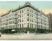 Kirkwood Hotel Des Moines Iowa 1909 postcard