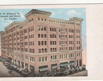 J W Robinson Department Store Los Angeles California 1920s postcard