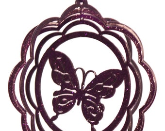 Butterfly Tini Swirly Metal Wind Spinner