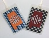 Alabama Bag Tag Monogram Bag Tag Tote Bag Tag Personalized Bag Tag Monogrammed Gift Monogram Tote Bag Tag Sorority Gift Alabama Fan Gift