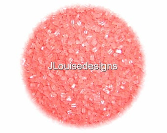 Coral Sugar Crystals Edible Sprinkles Custom Colors,Cake,Cake pops, Cookie and Cupcake Sprinkles Confetti Decorations