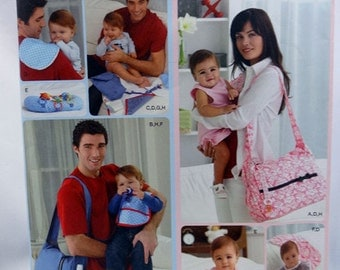 Simplicity 2924, Diaper Bags and Accessories, Sewing Pattern, Uncut