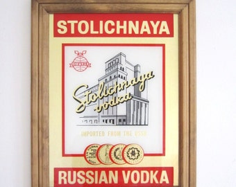 Stoli Vodka Mirror Sign