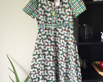 Ready To Ship Short Sleeve Girls Dress Handmade OOAK