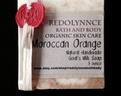 Moroccan Sweet Orange...Organic Goat's Milk Soap Made with Essential Oils. GMO free..Palm Free