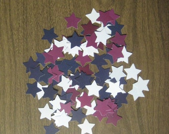 Reclaimed paper confetti stars - country patriotic