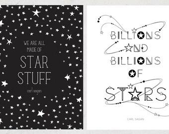 Carl Sagan Star Quotes Print Set
